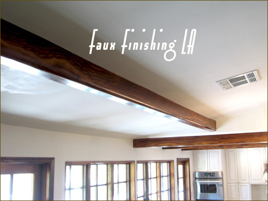 In This Remodel The Homeowner Wanted The Three Fake Beams Constructed Out  Of Drywall In The Sitting Room To Look Like The Natural Wood Stained Beams  In The ...